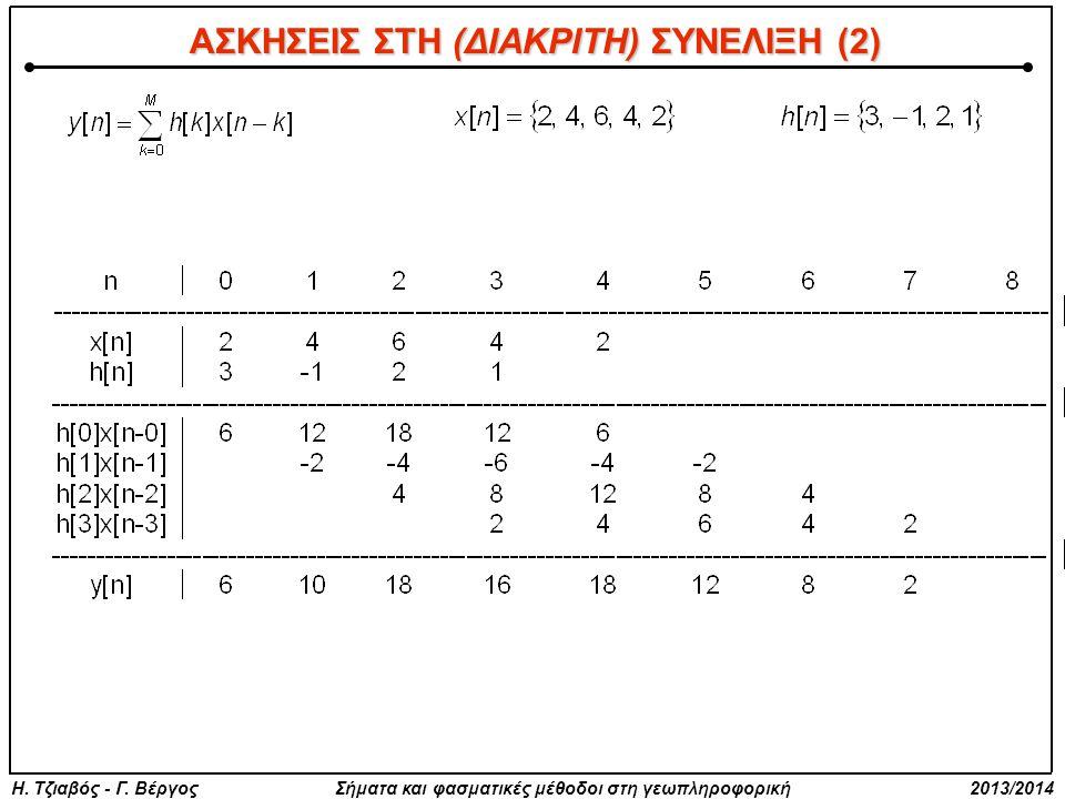 ΑΣΚΗΣΕΙΣ ΣΤΗ (ΔΙΑΚΡΙΤΗ) ΣΥΝΕΛΙΞΗ (2)