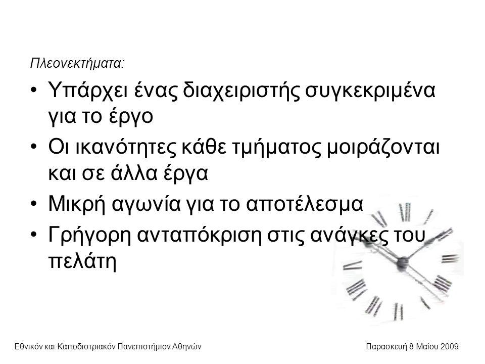 Διαπροσωπικές συγκρούσεις Εθνικόν και Καποδιστριακόν Πανεπιστήμιον ΑθηνώνΠαρασκευή 8 Μαΐου 2009  Είναι καθημερινότητα  Ο διαχειριστής πρέπει: Να ενθαρρύνει την ανοικτή έκφραση συναισθημάτων Να έχει υποδειγματική συμπεριφορά Να γνωρίζει ότι υπάρχουν συνέπειες των συγκρούσεων Να αποφεύγει τις κατά πρόσωπο αντιπαραθέσεις