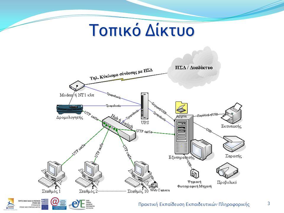 Πρακτική Εκπαίδευση Εκπαιδευτικών Πληροφορικής Τοπικό Δίκτυο 3