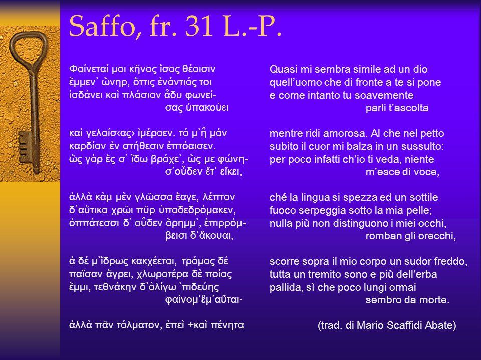 Saffo, fr. 31 L.-P.