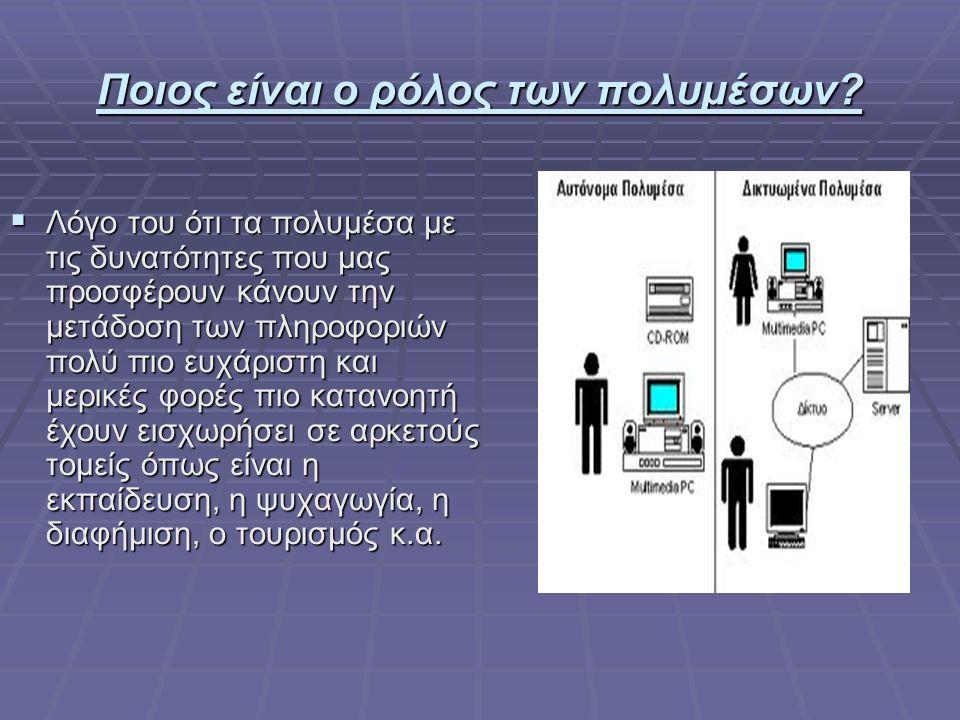 Πολυμέσα και αλληλεπίδραση  Η αλληλεπίδραση μεταξύ χρηστών και υπολογιστών γίνεται στο επίπεδο της διεπαφής χρήστη (user interface), μέσω κατάλληλου λογισμικού και υλικού.