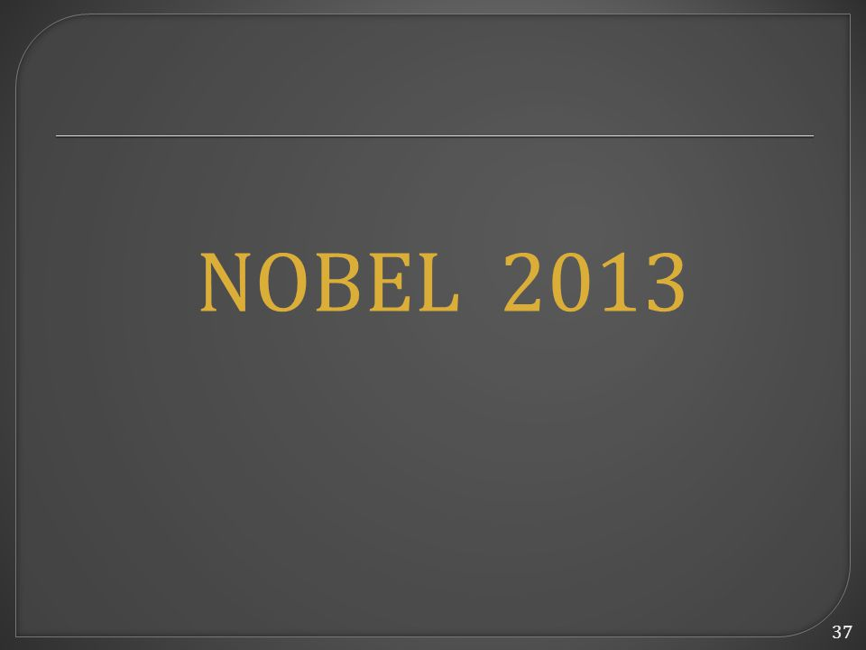 37 NOBEL 2013