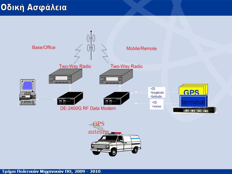 GPS antenna ID status ID longitude latitude GPS terminal