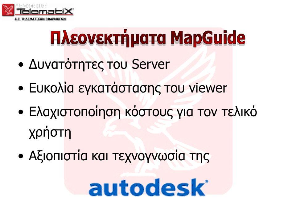Δυνατότητες του Server Ευκολία εγκατάστασης του viewer Ελαχιστοποίηση κόστους για τον τελικό χρήστη Αξιοπιστία και τεχνογνωσία της