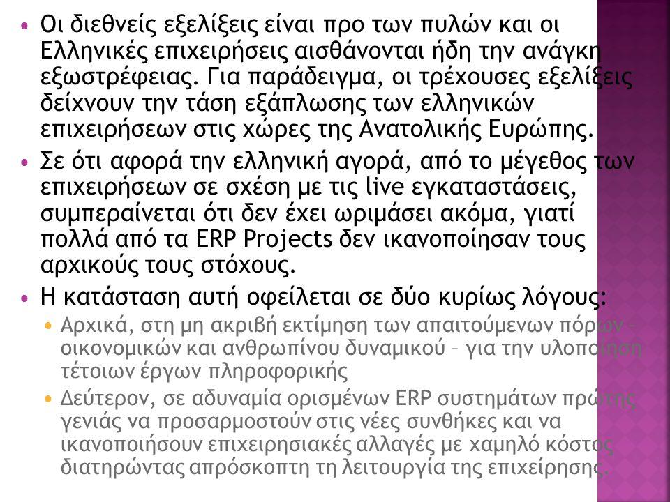 Οι διεθνείς εξελίξεις είναι προ των πυλών και οι Ελληνικές επιχειρήσεις αισθάνονται ήδη την ανάγκη εξωστρέφειας.