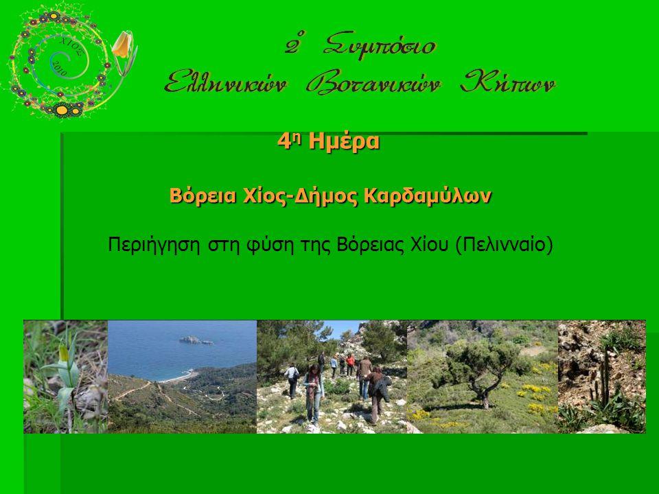 4 η Ημέρα Βόρεια Χίος-Δήμος Καρδαμύλων Περιήγηση στη φύση της Βόρειας Χίου (Πελινναίο)