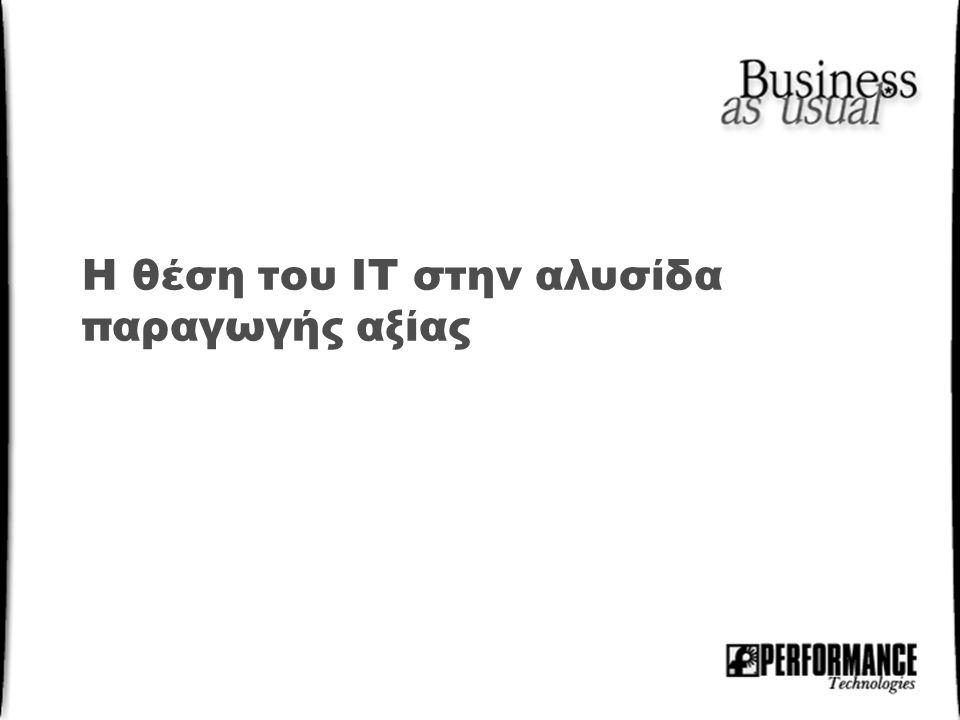 Η θέση του IT στην αλυσίδα παραγωγής αξίας