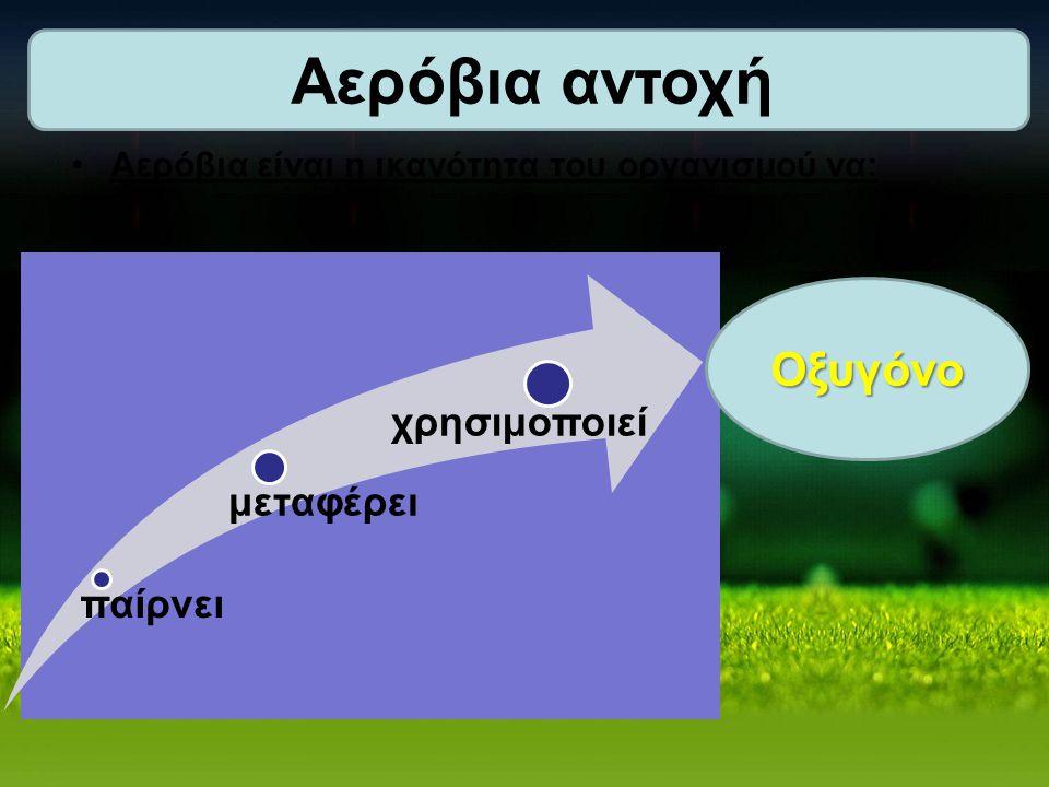 Αερόβια είναι η ικανότητα του οργανισμού να: παίρνει μεταφέρει χρησιμοποιείΟξυγόνο
