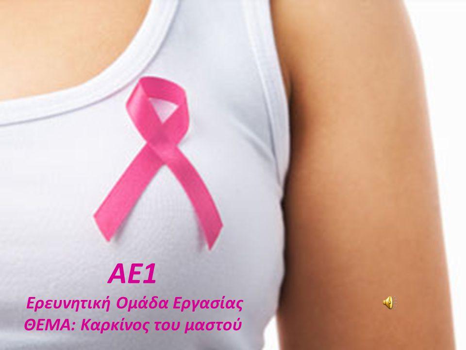 ΑΕ1 Ερευνητική Ομάδα Εργασίας ΘΕΜΑ: Καρκίνος του μαστού