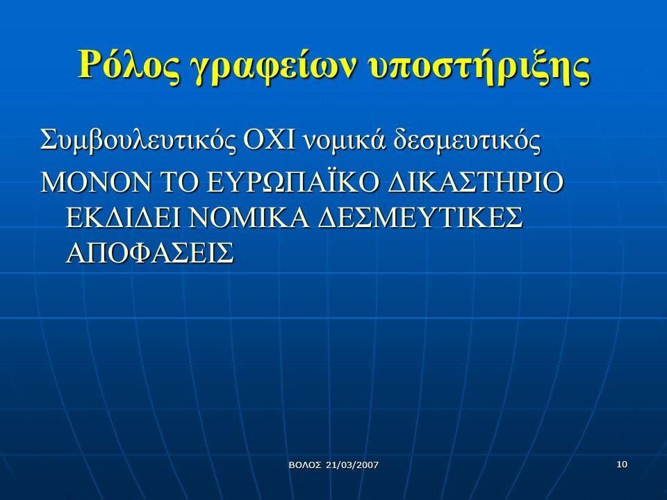 ΒΟΛΟΣ 21/03/2007 11 Έλεγχοι - Επιθεωρήσεις Ενημέρωση επιθεωρητών χημικών προϊόντων σχετικά με τις τάσεις και τις διατάξεις της νέας νομοθεσίας κατά τις ετήσιες συσκέψεις του δικτύου των επιθεωρητών Ενημέρωση επιθεωρητών χημικών προϊόντων σχετικά με τις τάσεις και τις διατάξεις της νέας νομοθεσίας κατά τις ετήσιες συσκέψεις του δικτύου των επιθεωρητών Εκπαίδευση επιθεωρητών στην εφαρμογή της νέας νομοθεσίας (2008, δυο εκπαιδευτικές σειρές) Εκπαίδευση επιθεωρητών στην εφαρμογή της νέας νομοθεσίας (2008, δυο εκπαιδευτικές σειρές) Ενημέρωση των επιχειρήσεων για τις διατάξεις της νέας νομοθεσίας από τους επιθεωρητές (προκαταχώρηση/καταχώρηση/Δ.Δ.Α) Ενημέρωση των επιχειρήσεων για τις διατάξεις της νέας νομοθεσίας από τους επιθεωρητές (προκαταχώρηση/καταχώρηση/Δ.Δ.Α) Άντληση στοιχείων από το Ε.Μ.Χ.Π.
