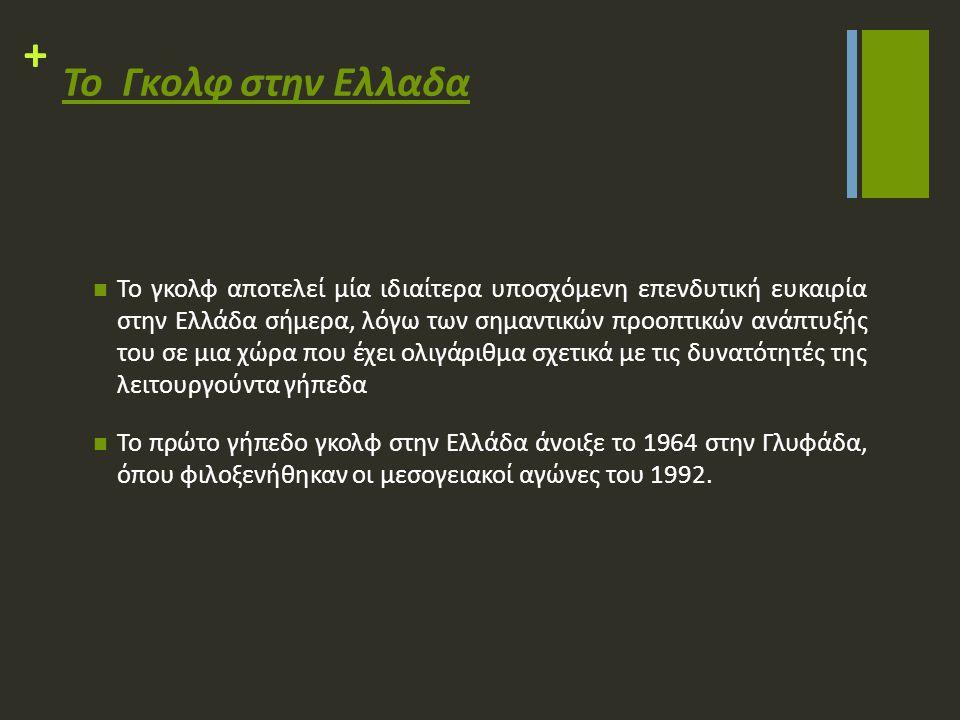 + Η Ελληνικη Ομοσπονδια γκολφ Η Ελληνική Ομοσπονδία Γκολφ ιδρύθηκε το 1981.