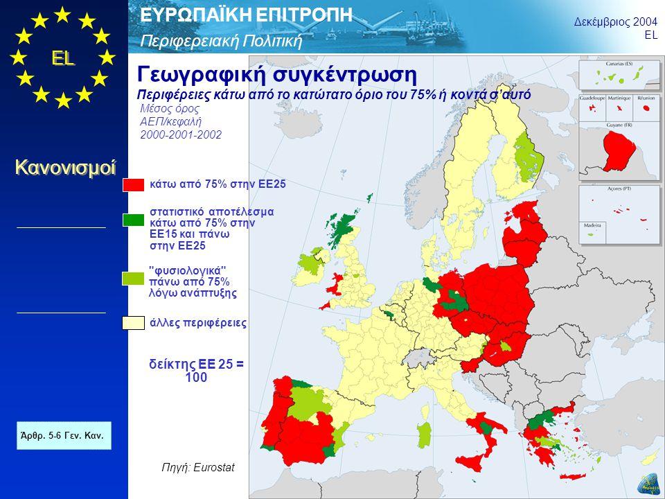 Περιφερειακή Πολιτική ΕΥΡΩΠΑΪΚΗ ΕΠΙΤΡΟΠΗ Δεκέμβριος 2004 EL Κανονισμοί