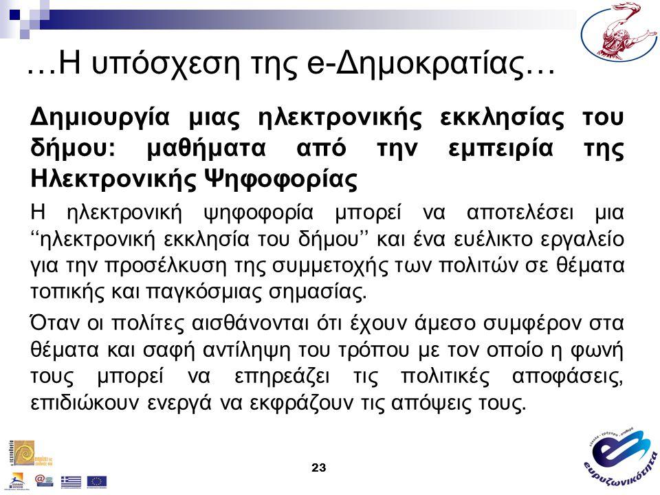 24 e-Δημοκρατία &Τοπική Αυτοδιοίκηση… Ανακοίνωση όλων των δημόσιων συσκέψεων / συναντήσεων, με συστηματικό και αξιόπιστο τρόπο.