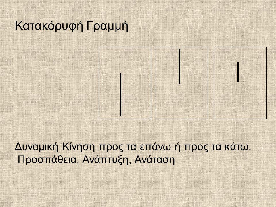 Κατακόρυφή Γραμμή Δυναμική Κίνηση προς τα επάνω ή προς τα κάτω. Προσπάθεια, Ανάπτυξη, Ανάταση