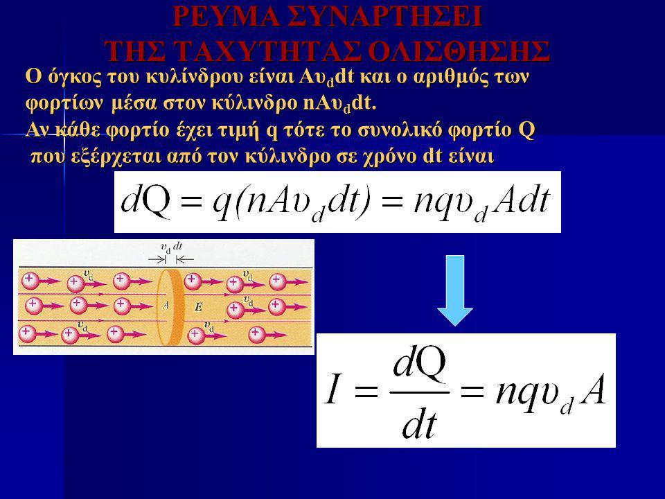Ωμική Αντίσταση ΑΝ το στοιχείο είναι ωμικός αντιστάτης, τότε η ισχύς που του προσφέρεται από το κύκλωμα είναι: Η ενέργεια καταναλίσκεται στον αντιστάτη με ρυθμό που δίνεται από την παραπάνω εξίσωση Στις οικιακές συσκευές αναγράφεται η μέγιστη ισχύς που αντέχει η συγκεκριμένη κατανάλωση (αντιστάτης).