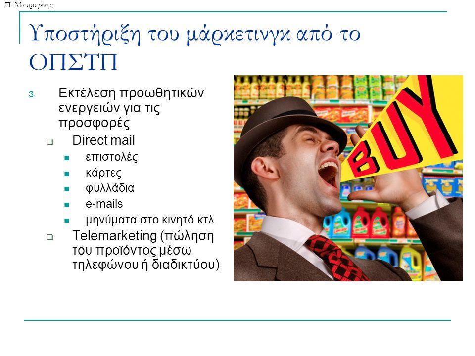 Π. Μαυρογένης Υποστήριξη του μάρκετινγκ από το ΟΠΣΤΠ 3.