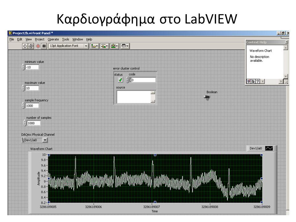 Καρδιογράφημα στο LabVIEW