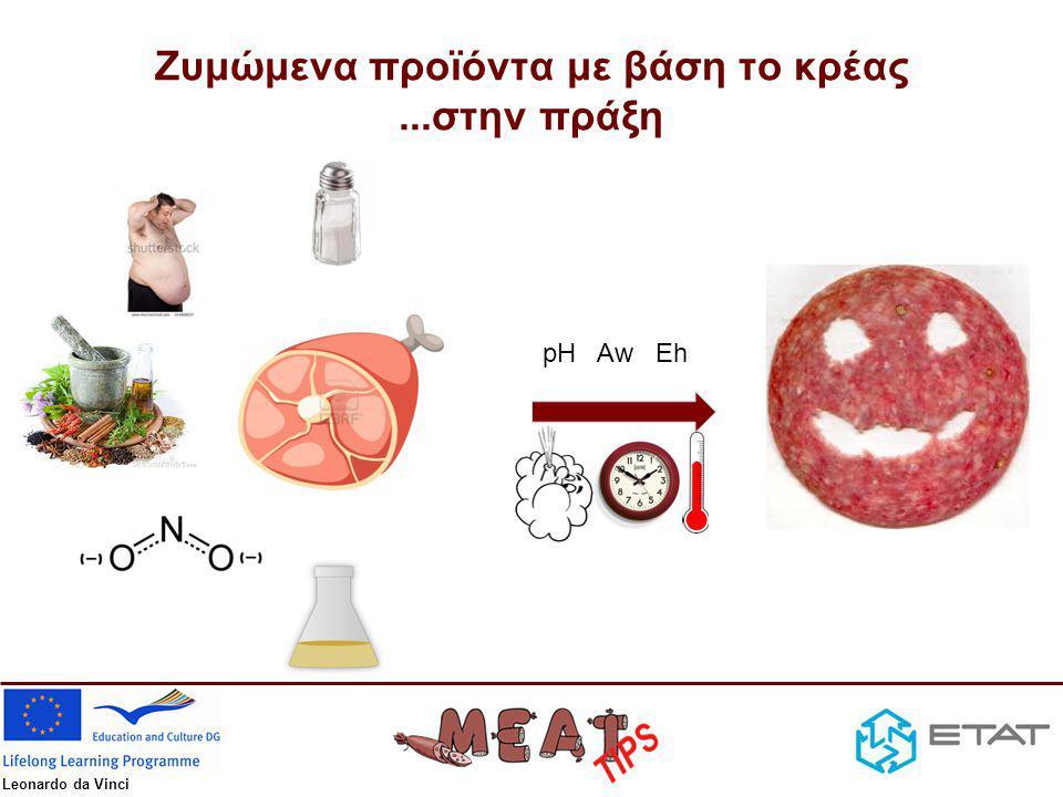 Leonardo da Vinci Ζυμώμενα προϊόντα με βάση το κρέας...στην πράξη pH Aw Eh