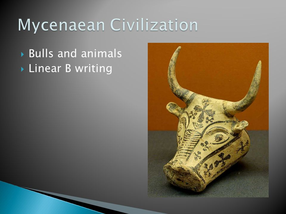  Bulls and animals  Linear B writing