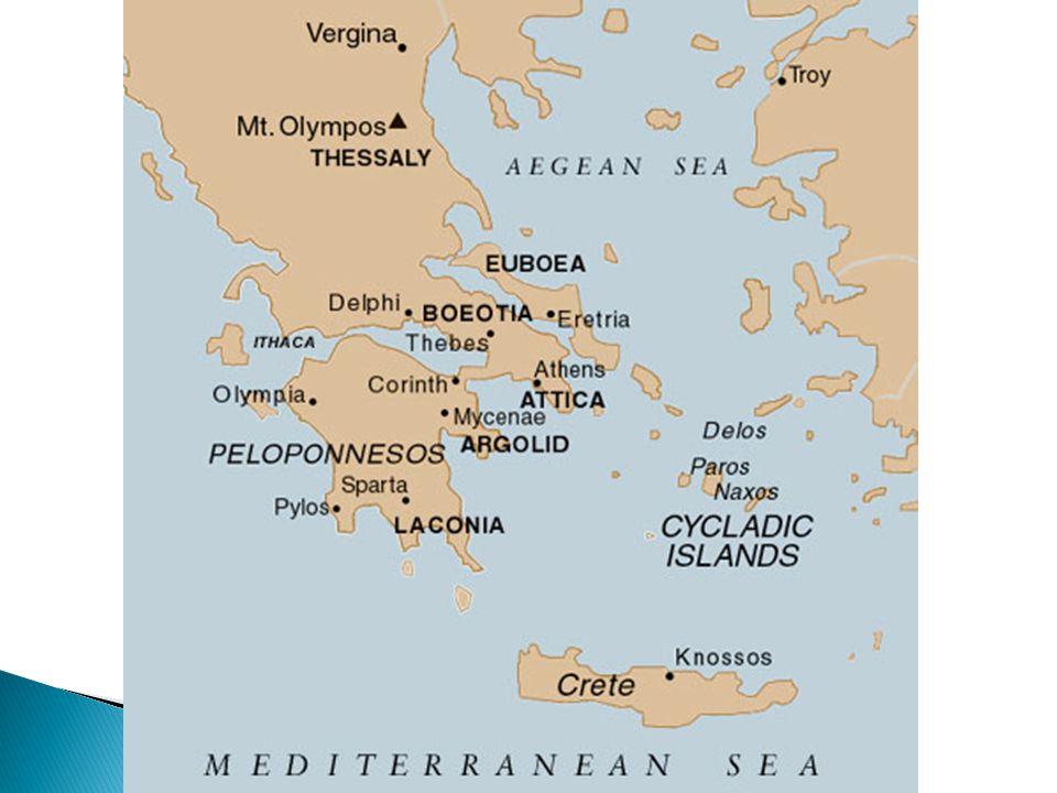  Minoan 2000-1450 BCE  Mycenaean 1600-1100 BCE  The Dark Ages 1100-800 BCE  City-States/Colonization – 800-550 BCE  Persian Wars – 550-480 BCE  Classical Greece – 480-338 BCE  The Hellenistic Age – 338-27 BCE  Greco-Roman Period – 27 BCE-400 AD