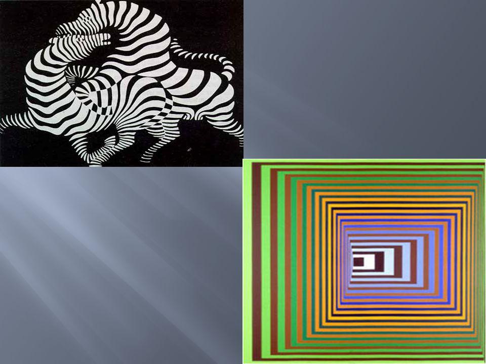 ''OP ART '' optical illusions VICTOR VASARELY(1906-1997) Ο Victor Vasarely θεωρείται ο αδιαμφισβήτητος ηγέτης της ''ΟP ART'' μιας ενδιαφέρουσας μορφής