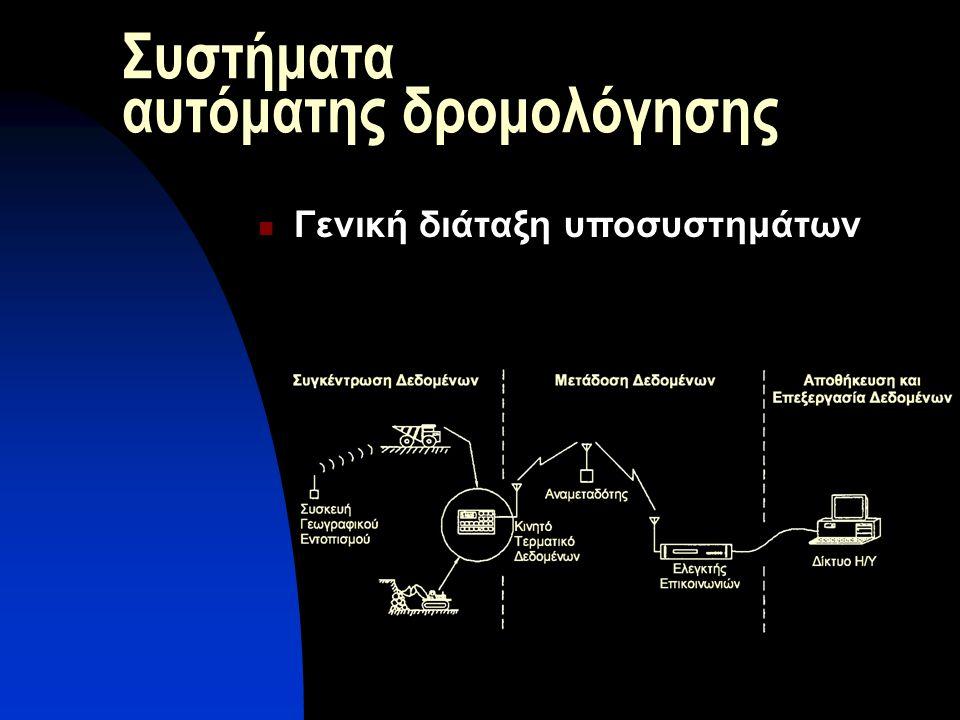 Συστήματα αυτόματης δρομολόγησης Γενική διάταξη υποσυστημάτων