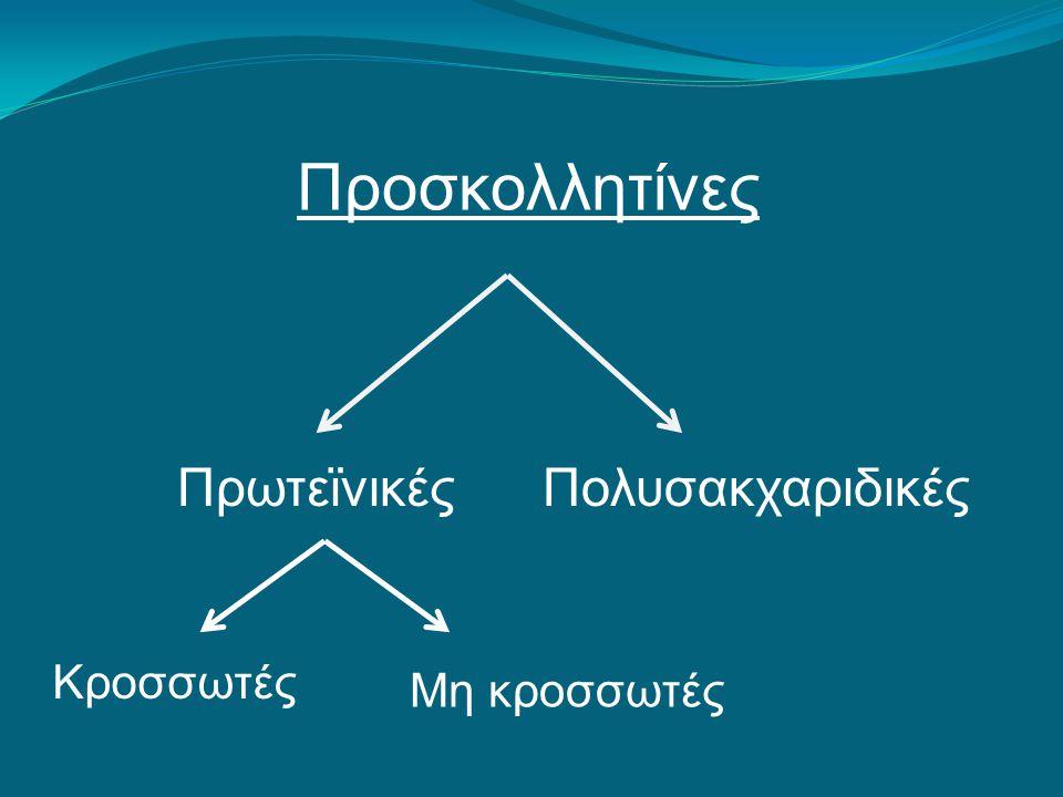 Προσκολλητίνες Πρωτεϊνικές κροσσωτές προσκολλήτίνες (Pili) http://www.buzzle.com/img/articleImages/553795-30020-54.jpg