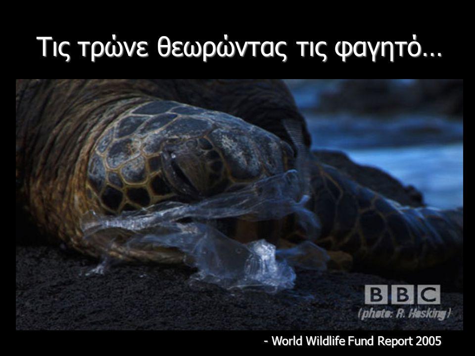 Τις τρώνε θεωρώντας τις φαγητό… - World Wildlife Fund Report 2005