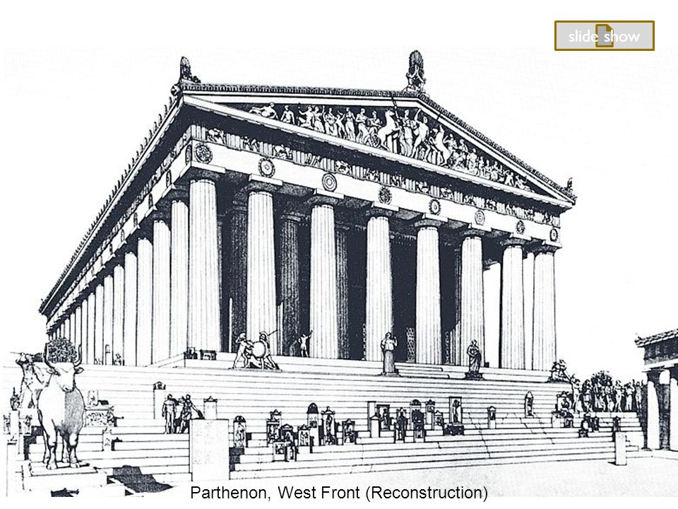 Parthenon, West Front (Reconstruction) slide show