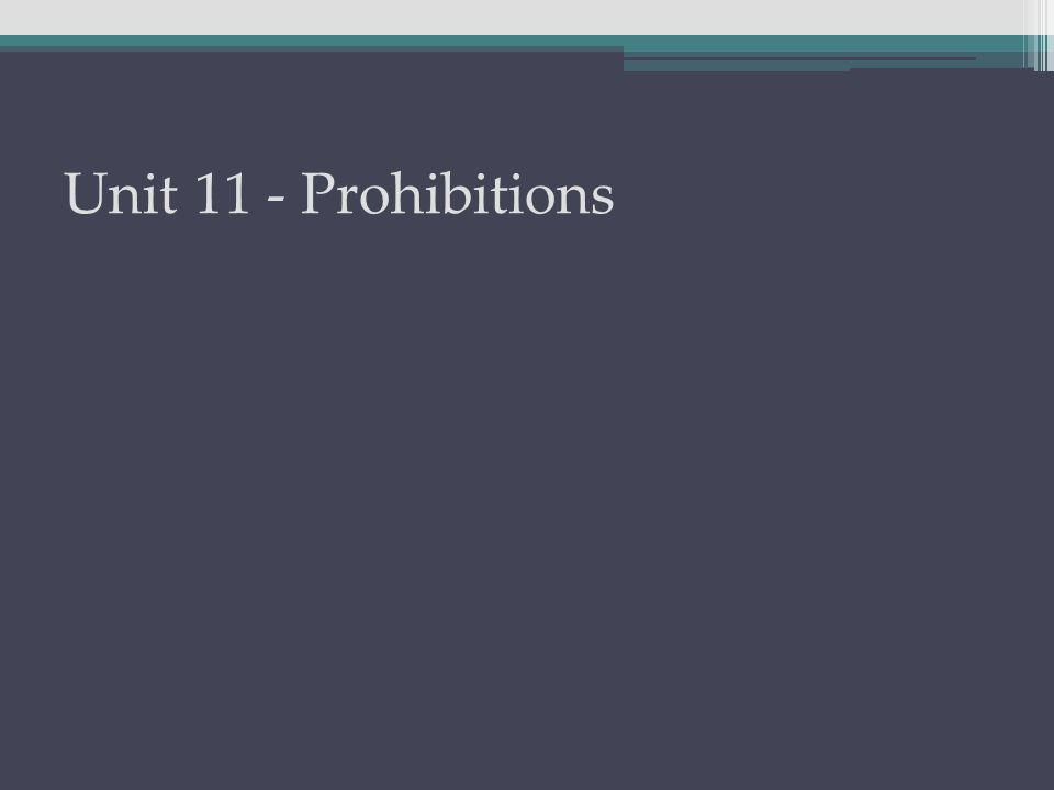 Prohibitions are negative commands.