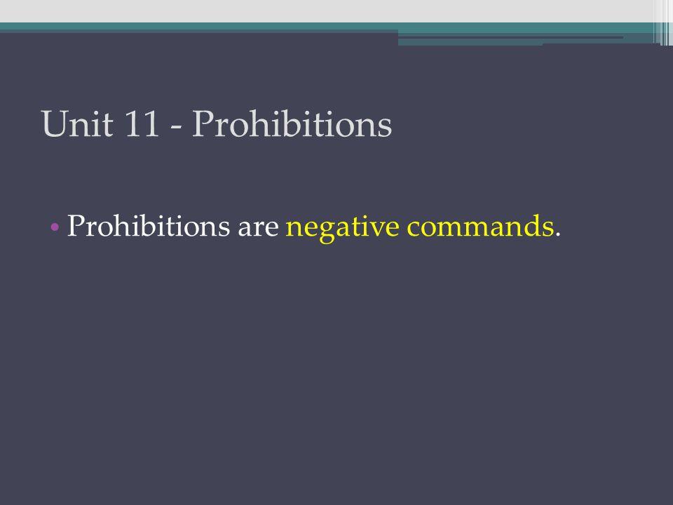 Unit 11 - Prohibitions μὴ ἄρχεσθε ὑπὸ τῶν κακῶν. Don't be ruled by evil men.