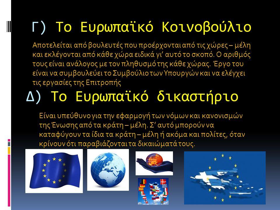 Γ) Το Ευρωπαϊκό Κοινοβούλιο Αποτελείται από βουλευτές που προέρχονται από τις χώρες – μέλη και εκλέγονται από κάθε χώρα ειδικά γι' αυτό το σκοπό.