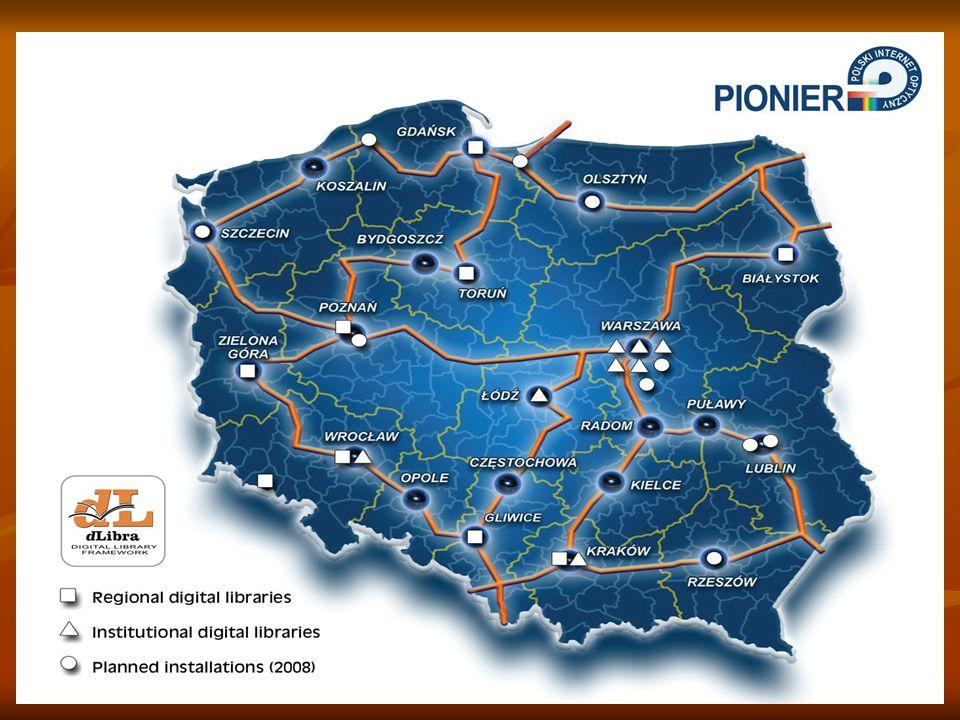 PIONIER – POLISH OPTICAL INTERNET Το πρόγραμμα PIONIER στοχεύει στο χτίσιμο ενός βασικού μηχανισμού στην Κοινωνία της Πληροφορίας και εξασφαλίζει στην Πολωνία ισότιμες ευκαιρίες συνεργασίας με άλλες χώρες Το πρόγραμμα PIONIER στοχεύει στο χτίσιμο ενός βασικού μηχανισμού στην Κοινωνία της Πληροφορίας και εξασφαλίζει στην Πολωνία ισότιμες ευκαιρίες συνεργασίας με άλλες χώρες Το πρόγραμμα εστιάζει σε τρεις περιοχές: Το πρόγραμμα εστιάζει σε τρεις περιοχές: α) κατασκευή υποδομής δικτύου που υποστηρίζει την επιστήμη,ταιριάζοντας όμοιες εγκαταστάσεις σε άλλες ευρωπαϊκές χώρες α) κατασκευή υποδομής δικτύου που υποστηρίζει την επιστήμη,ταιριάζοντας όμοιες εγκαταστάσεις σε άλλες ευρωπαϊκές χώρες β) εξέλιξη και επαλήθευση πιλοτικών υπηρεσιών και εφαρμογών για την κοινωνία της πληροφορίας δημιουργώντας μια βάση για νέες εξελίξεις στην επιστήμη,παιδεία, σύστημα υγείας,φυσικό περιβάλλον, κυβερνητική και τοπική διοίκηση,βιομηχανία και υπηρεσίες β) εξέλιξη και επαλήθευση πιλοτικών υπηρεσιών και εφαρμογών για την κοινωνία της πληροφορίας δημιουργώντας μια βάση για νέες εξελίξεις στην επιστήμη,παιδεία, σύστημα υγείας,φυσικό περιβάλλον, κυβερνητική και τοπική διοίκηση,βιομηχανία και υπηρεσίες γ) δημιουργία ανταγωνιστικών συνθηκών για την εξέλιξη ενεργητικού λογισμικού για νέες εφαρμογές στην κοινωνία της πληροφορίας.