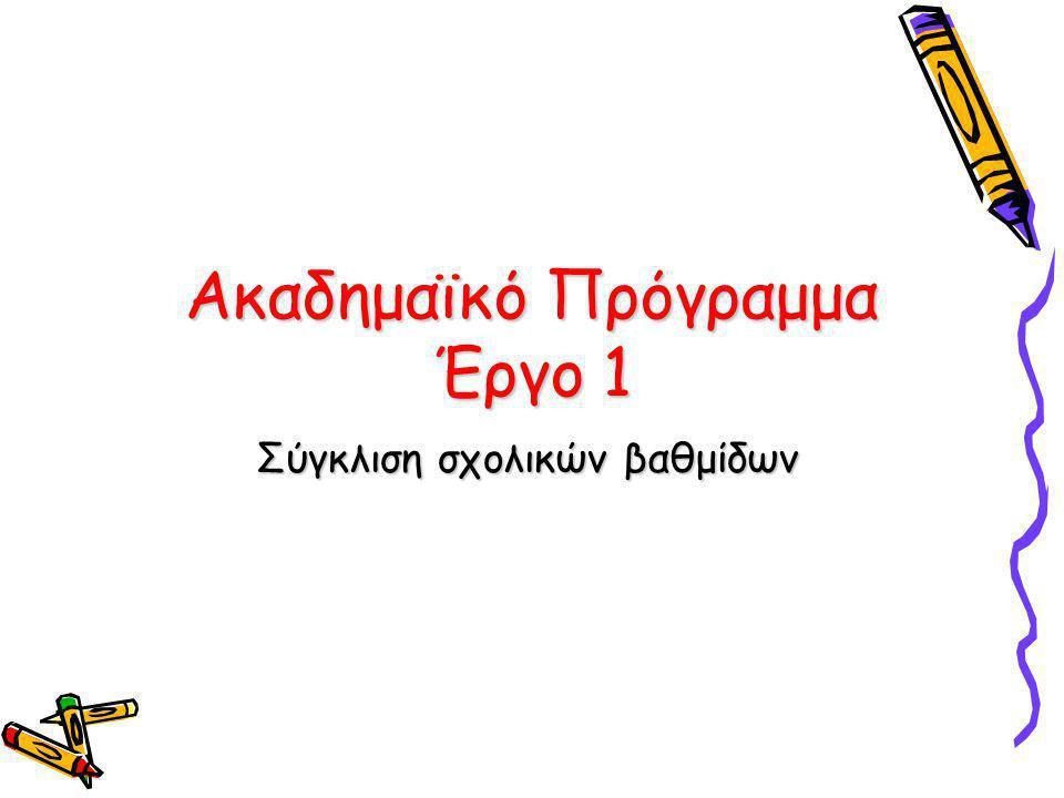Δεξιότητες εξόδου των μαθητών του Δημοτικού και του Γυμνασίου σε πέντε διδακτικά αντικείμενα: Ελληνική Γλώσσα Αγγλική Γλώσσα Φυσικές επιστήμες Μαθηματικά Πληροφορική