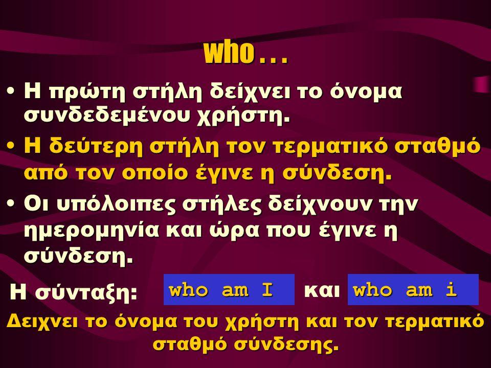 who...