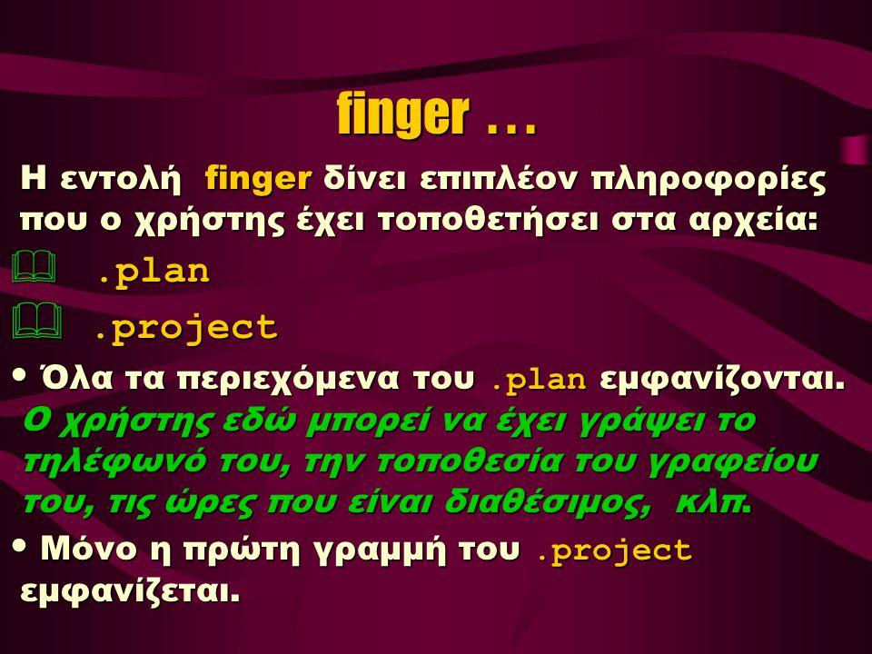 finger...