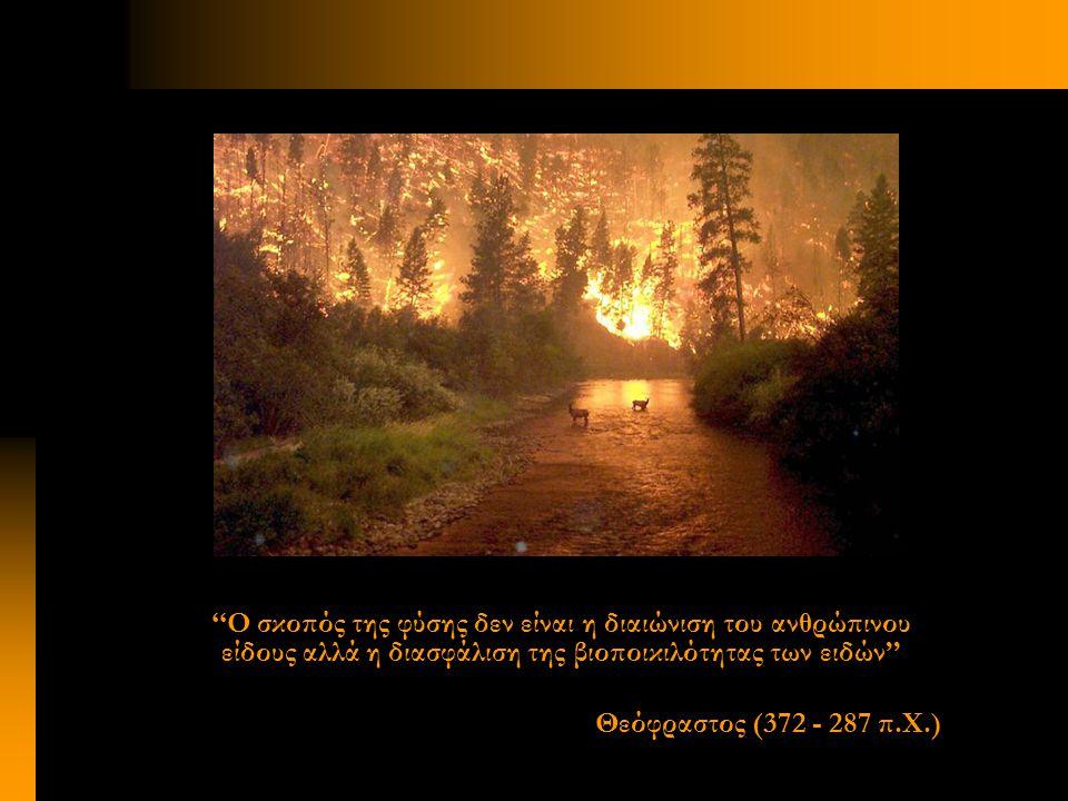 ''Ο σκοπός της φύσης δεν είναι η διαιώνιση του ανθρώπινου είδους αλλά η διασφάλιση της βιοποικιλότητας των ειδών'' Θεόφραστος (372 - 287 π.Χ.)
