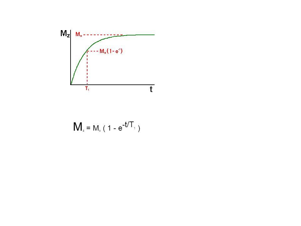 M z = M o ( 1 - e -t/T 1 )