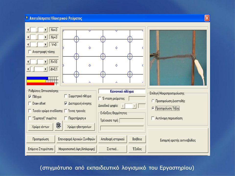 (στιγμιότυπο από εκπαιδευτικό λογισμικό του Εργαστηρίου)