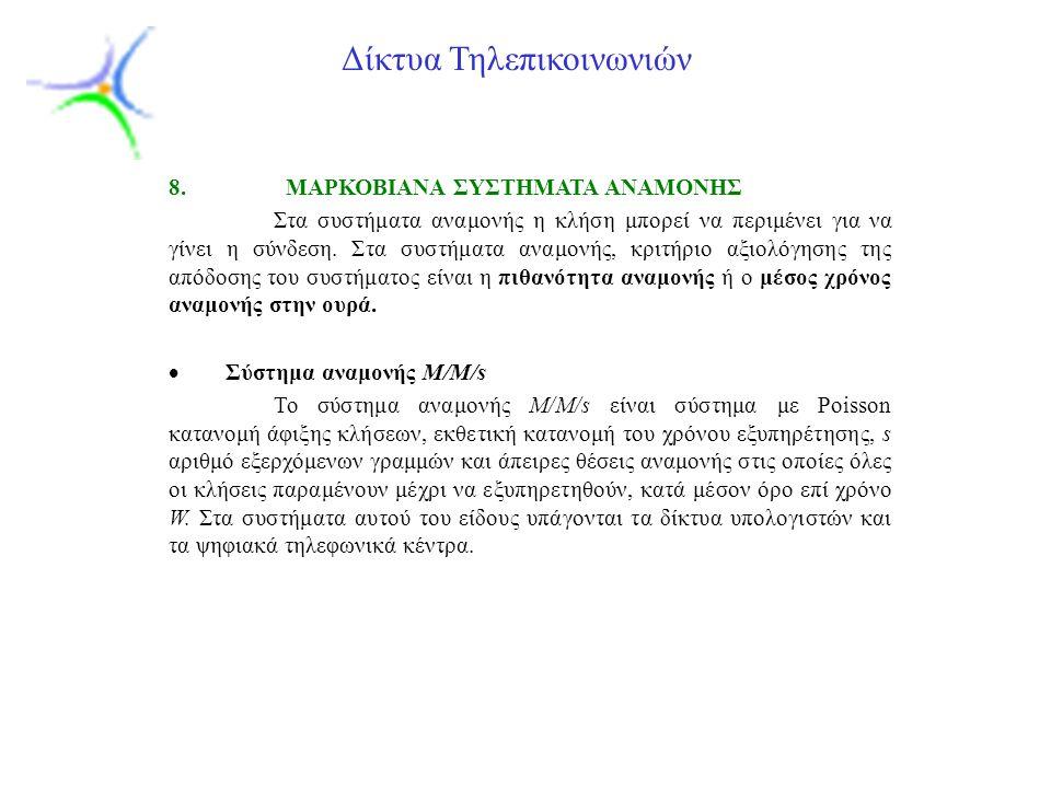 Slide 13 Δίκτυα Τηλεπικοινωνιών 8.