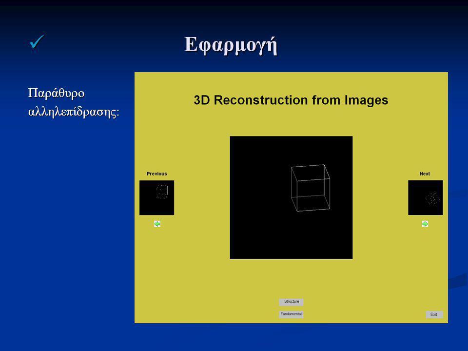 Εφαρμογή Εφαρμογή Παράθυροαλληλεπίδρασης: