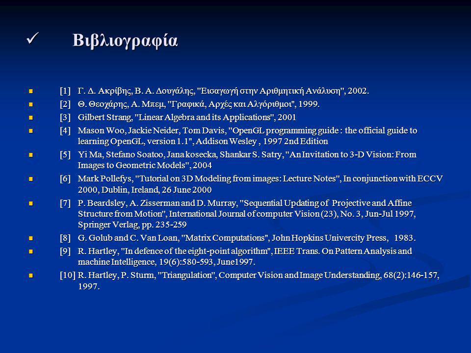Βιβλιογραφία Βιβλιογραφία [1] Γ. Δ. Ακρίβης, Β. Α. Δουγάλης, ''Εισαγωγή στην Αριθμητική Ανάλυση'', 2002. [1] Γ. Δ. Ακρίβης, Β. Α. Δουγάλης, ''Εισαγωγή