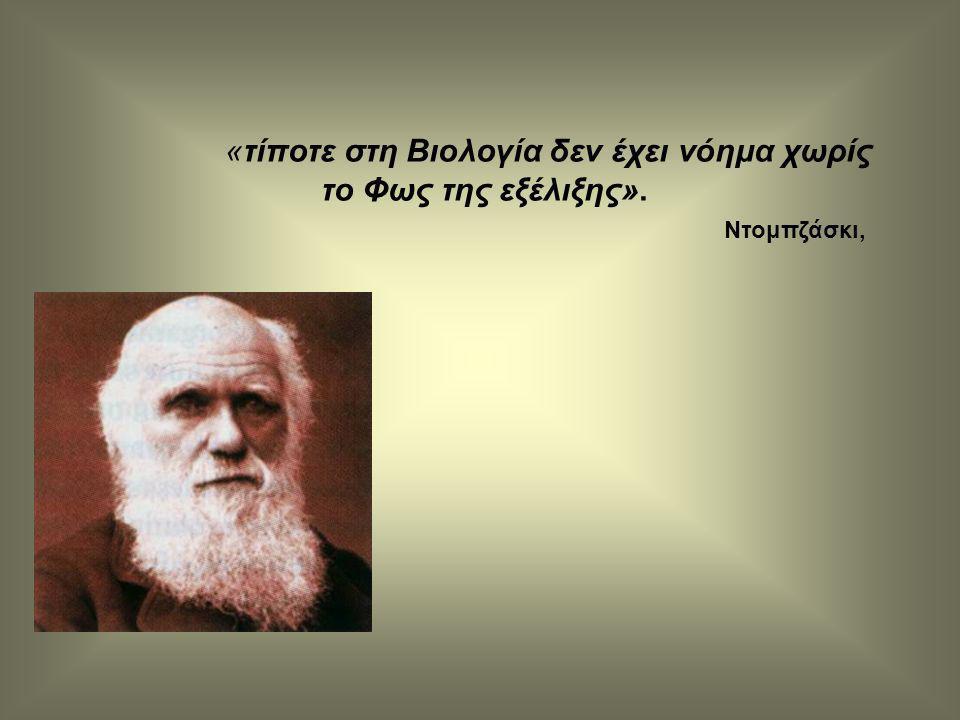 «τίποτε στη Βιολογία δεν έχει νόημα χωρίς το Φως της εξέλιξης». Ντομπζάσκι,