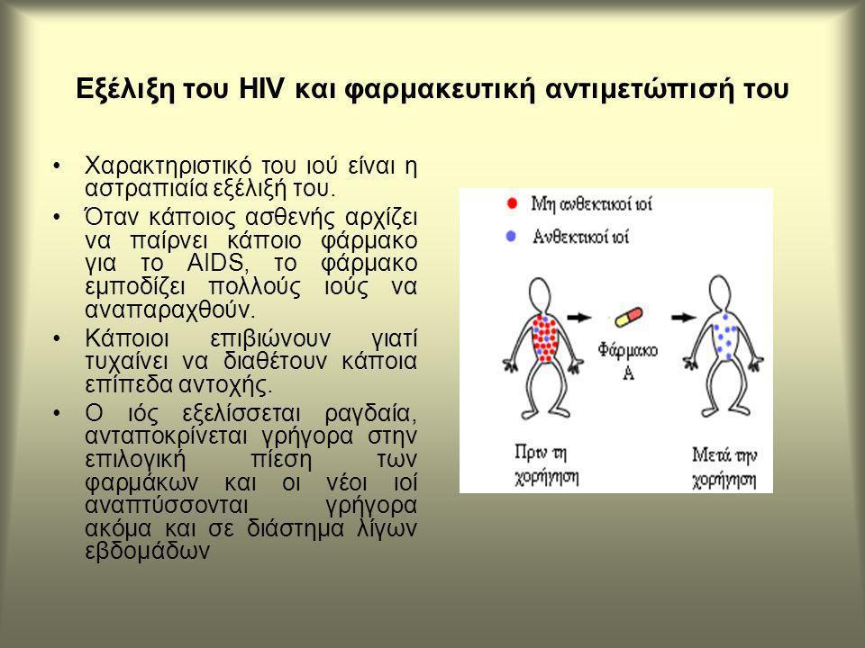 Εξέλιξη του HIV και φαρμακευτική αντιμετώπισή του Χαρακτηριστικό του ιού είναι η αστραπιαία εξέλιξή του.