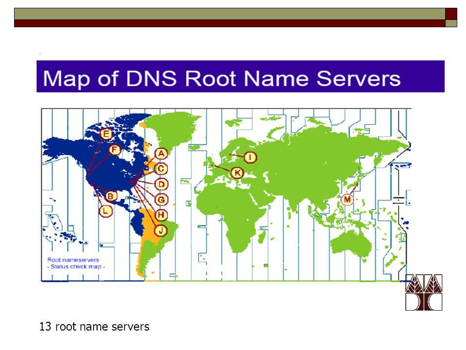 13 root name servers