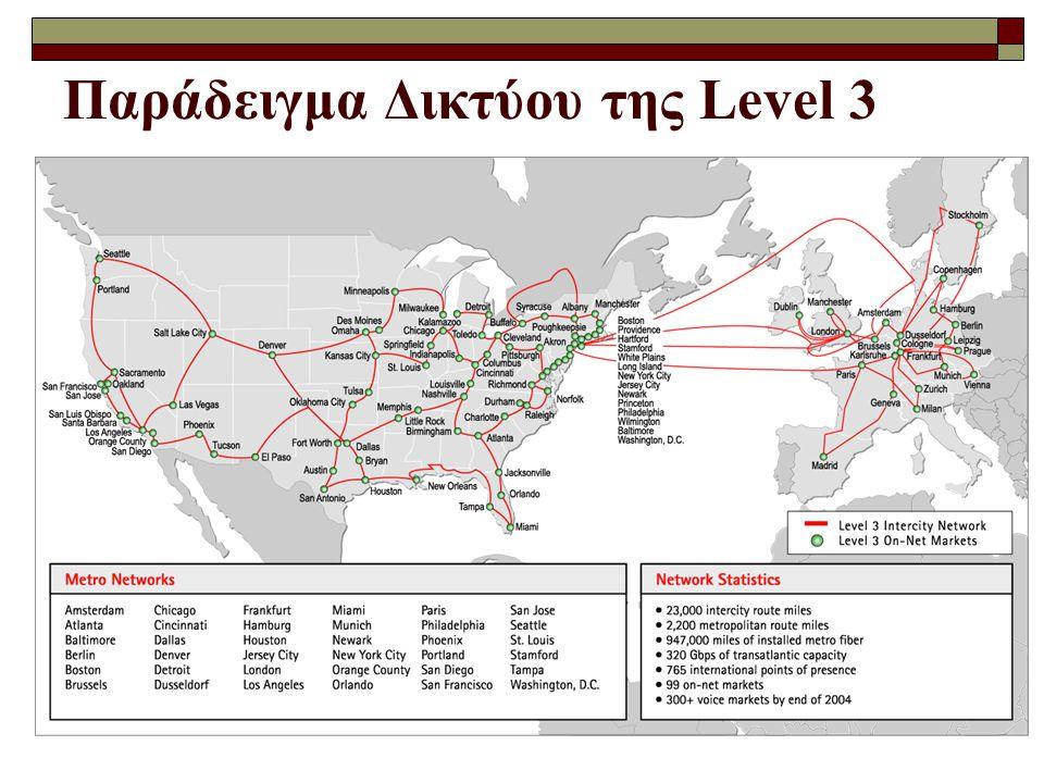 Παράδειγμα Δικτύου της Level 3