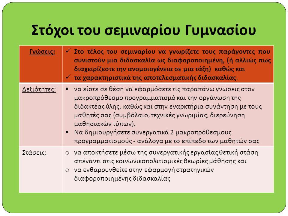 Τρόπος ορισμούπλεονεκτήματαμειονεκτήματα Μέθοδος των κλίσεων και των ικανοτήτων (Συστημική μέθοδος) Εξασφαλίζεται ισοδυναμία ως προς τις κλίσεις και τις δεξιότητες Δεν υπάρχουν απομονωμένοι μαθητές Οι ίδιοι οι μαθητές εξασφαλίζουν ισοδυναμία επιδόσεων και φύλου Εξασφαλίζεται και η ασφάλεια και η οικειότητα Χρειάζεται εμπειρία απ΄ τον καθηγητής ως προς τον ορισμό των κριτηρίων ανάλογα με το θέμα και τον τρόπο συνεργασίας των ομάδων