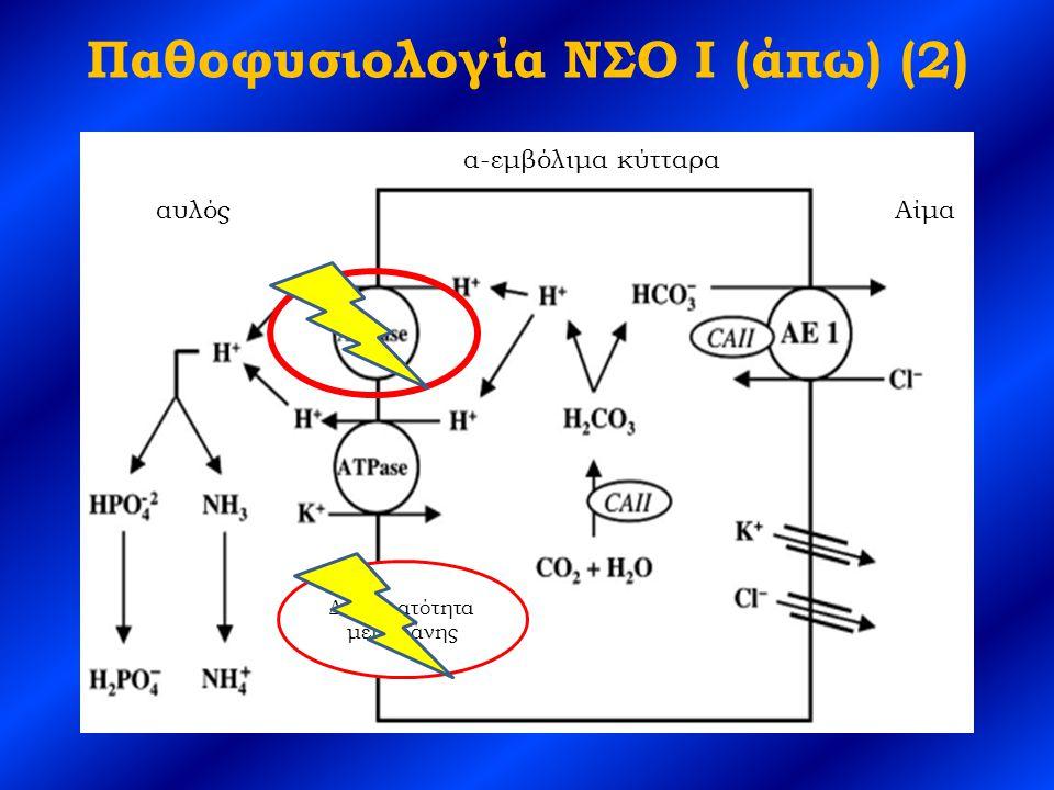 Παθοφυσιολογία ΝΣΟ I (άπω) (2) α-εμβόλιμα κύτταρα αυλόςΑίμα Διαπερατότητα μεμβράνης
