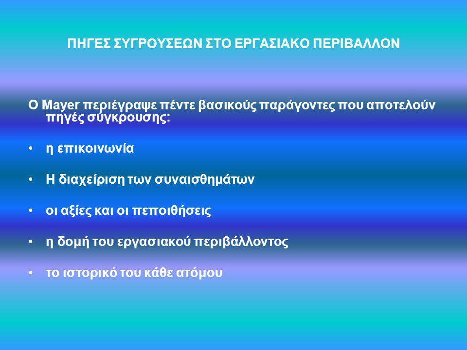 Πίνακας 19: Ανάλυση Διακύμανσης κατά δύο παράγοντες Μεταβλητές Άθροισμα τετραγώ- νων Βαθμοί Ελευθερίας df Μέσο τετράγωνο Λόγος F Σημαντικότητα επάγγελμα0,321 0,0010,97 Μορφωτικό επίπεδο 645,723215,240,660,58 επάγγελμα * Μορφωτικό επίπεδο 865,493288,490,880,45 Σφάλμα70437,75215327,62