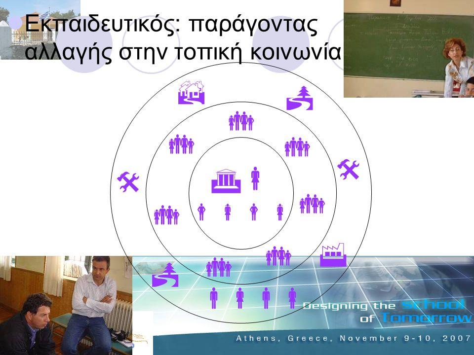 Εκπαιδευτικός: παράγοντας αλλαγής στην τοπική κοινωνία                